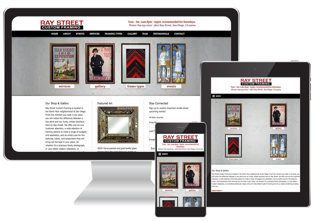 frame-shop-website-san-diego